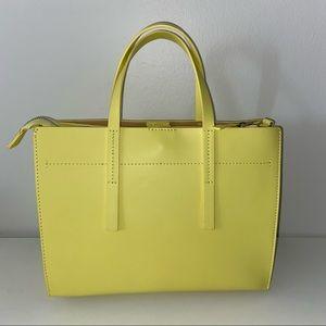 Neon Yellow Simons Genuine Italian Leather